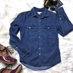 "J. CREW ""Keeper"" Chambray Cotton Button Down"